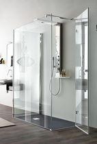 Paroi de douche battante / rectangulaire / en verre