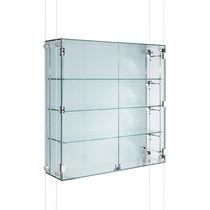 Vitrine contemporaine / murale / en verre / en aluminium