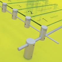 Plaque signalétique murale / fixe / au plafond / en aluminium