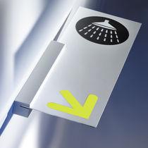 Plaque signalétique d'orientation / murale / fixe / en aluminium