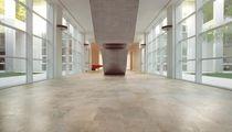 Carrelage de sol / en grès cérame / poli / aspect pierre