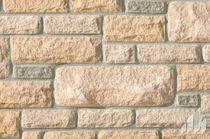 Parement en pierre naturelle / extérieur / intérieur / texturé