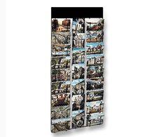Présentoir mural / pour cartes postales / en métal / à panneau