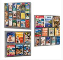 Présentoir mural / pour brochures / en métal / pour commerce