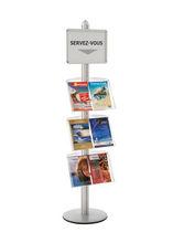 Présentoir pour brochures / en aluminium / pour commerce