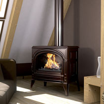 Poêle à bois / traditionnel / en fonte / double combustion