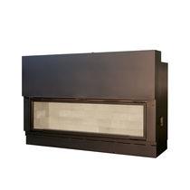 Foyer fermé à bois / à 1 face / double face / en acier