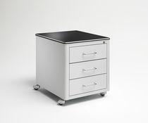 Caisson de bureau en métal / stratifié / à 2 tiroirs / à roulettes