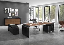 Bureau en stratifié / en métal / contemporain / professionnel