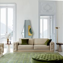 Canapé contemporain / en cuir / en tissu / 4 places