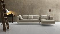 Canapé modulable / contemporain / en cuir / en tissu