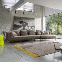 Canapé d'angle / modulable / contemporain / en tissu