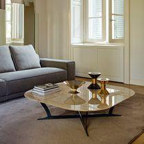Table basse contemporaine / en métal / en marbre / carrée