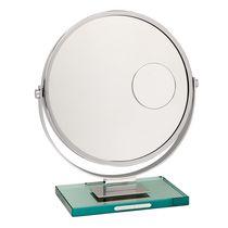 Miroir à poser / contemporain / rond / double face
