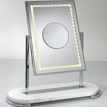 Miroir à poser / contemporain / rectangulaire / double face