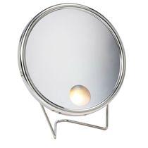 Miroir à poser / classique / rond / lumineux