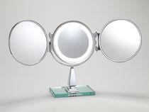 Miroir à poser / contemporain / rond / lumineux