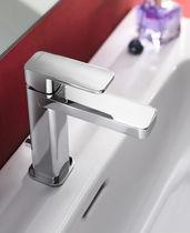 Mitigeur pour vasque / en laiton chromé / 1 trou / à économie d'énergie