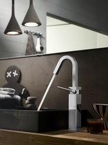 Mitigeur pour vasque / en laiton chromé / 1 trou / économiseur d'eau