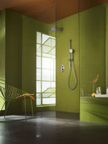 Set de douche encastrable au mur / contemporain / thermostatique