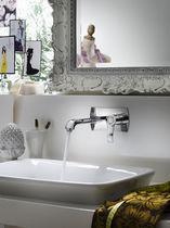 Mitigeur pour vasque / mural / en laiton / 2 trous