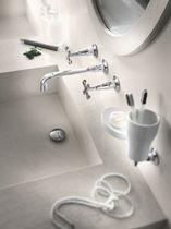 Mélangeur pour vasque / mural / en acier inox / de salle de bain