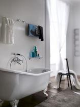 Mélangeur pour douche / pour baignoire / mural / en acier inox