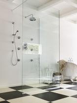 Set de douche encastrable au mur / classique / avec douche à main / thermostatique