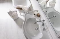 Mélangeur pour vasque / à poser / en acier inoxydable / de salle de bain