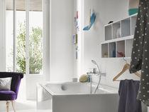 Mitigeur pour baignoire / mural / en laiton chromé / 2 trous
