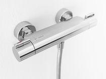Mélangeur pour douche / mural / en laiton / thermostatique