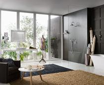 Set de douche encastrable au mur / contemporain / avec pommeau fixe / avec douche à main