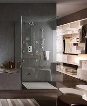 Set de douche encastrable au mur / contemporain / thermostatique / pour hôtel