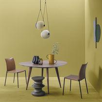 Table à manger contemporaine / en chêne / en noyer / en aluminium