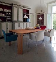 Chaise contemporaine / avec accoudoirs / tapissée / avec revêtement amovible