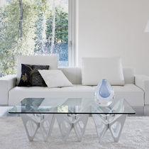 Table basse design original / en chêne / contreplaqué / en bois teinté