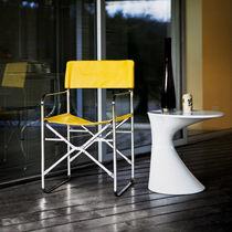 Chaise contemporaine / luge / pliante / avec revêtement amovible