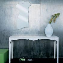 Miroir mural / contemporain / en acier inoxydable