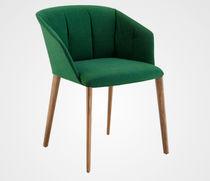 Chaise contemporaine / avec accoudoirs / à roulettes / piètement étoile