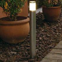 Borne d'éclairage de jardin / contemporaine / en acier inoxydable / à LED