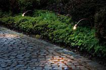Borne d'éclairage de jardin / contemporaine / en métal / à LED