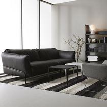 Canapé contemporain / en tissu / marron