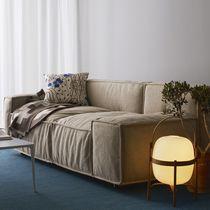 Canapé contemporain / en tissu / en cuir / 7 places et plus