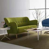 Canapé contemporain / en tissu / 2 places / vert
