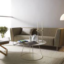 Table basse contemporaine / en métal / en frêne / en cuivre