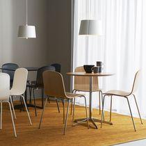 Table bistrot contemporaine / en marbre / en chêne / en stratifié