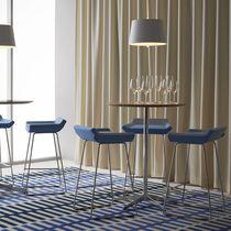 Table mange-debout contemporaine / en marbre / en chêne / en stratifié