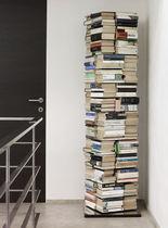 Bibliothèque contemporaine / en acier inoxydable laqué / pivotante