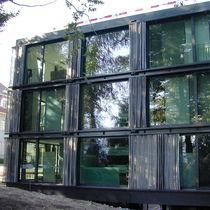 Brise-soleil en métal / en maille métallique / pour façade / horizontal