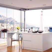 Baie vitrée coulissante-empilable / en aluminium
